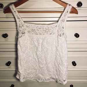 White Hollister lace tank top